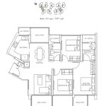 B2 3BR Floor Plan